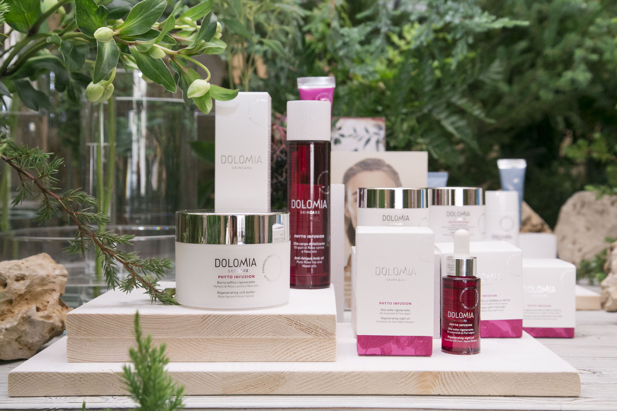 Dolomia Skincare new launch set styling project @ Fioraio Bianchi 04
