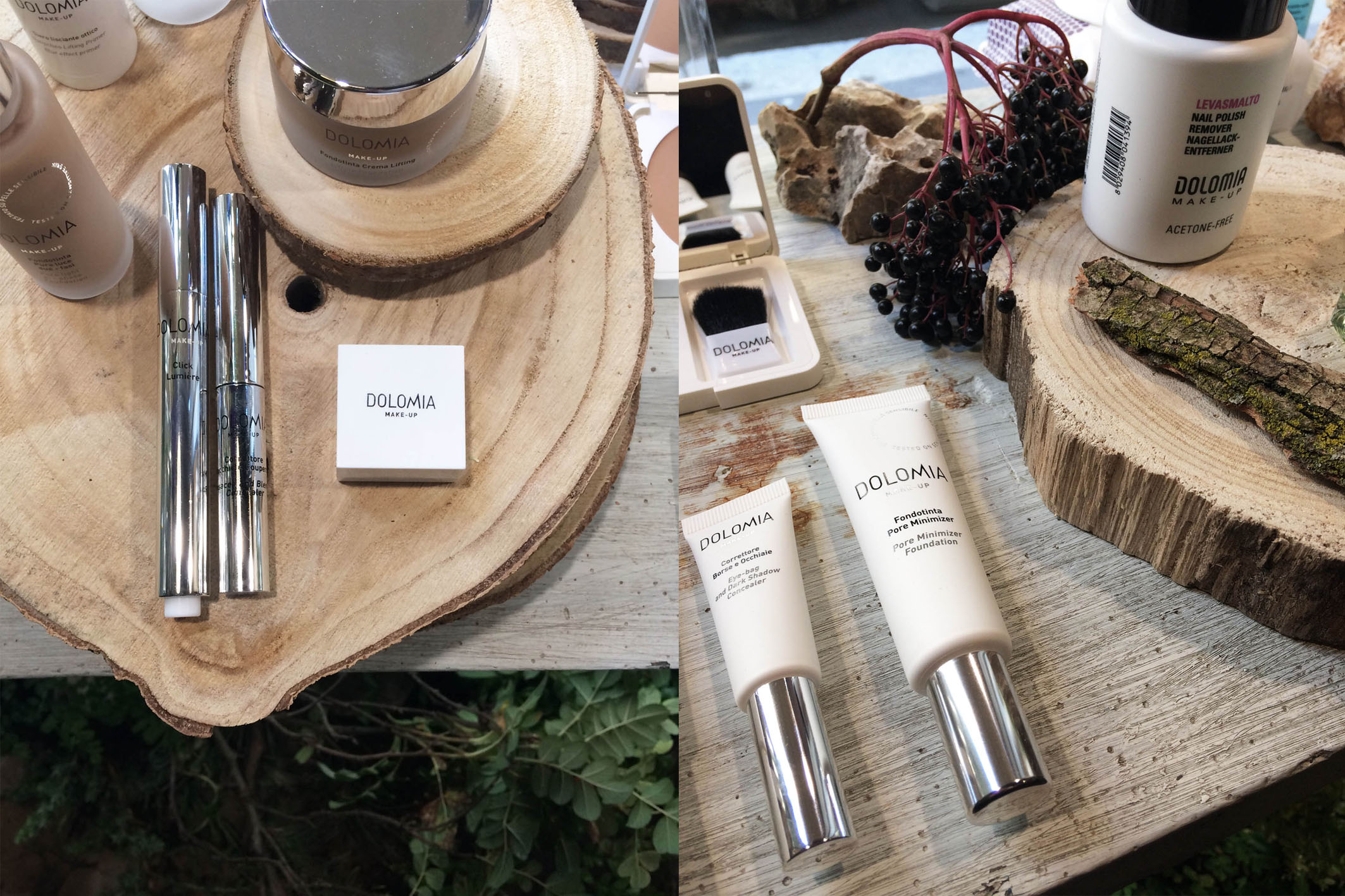 Dolomia Skincare new launch set styling project @ Fioraio Bianchi 09