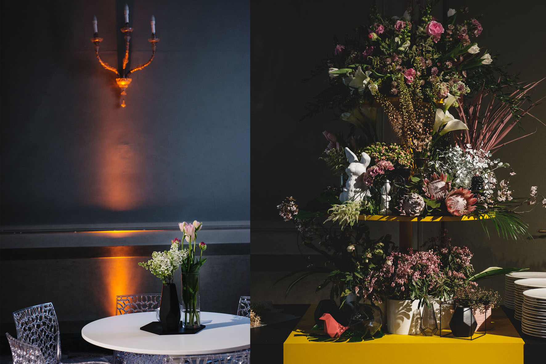 LOUIS VUITTON MOËT HENNESSY Veuve Clicquot VCP Gala Dinner Event Set Design Styling Palazzo Clerici Milano 08