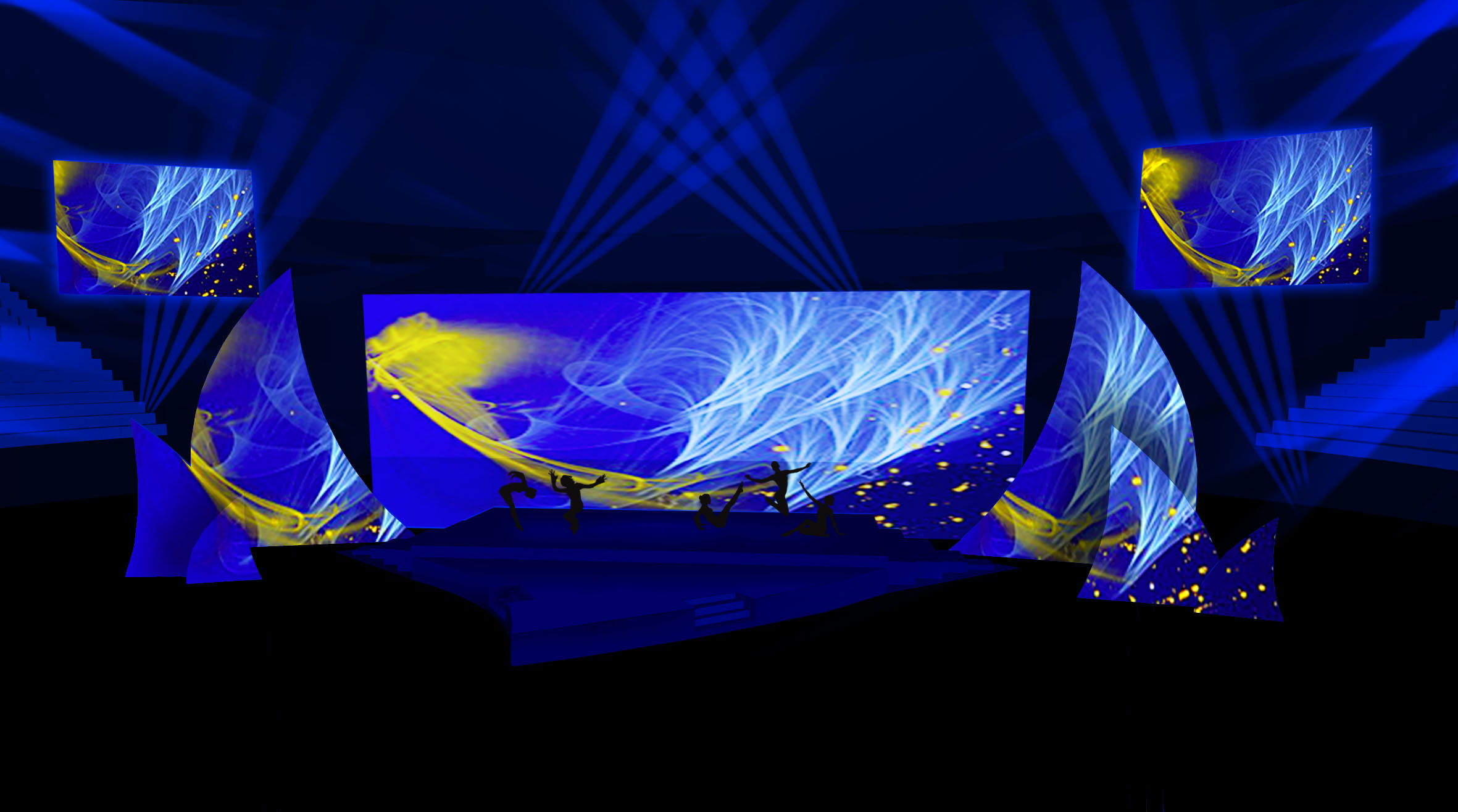 UNICREDIT sails projection Convention stage design project 03
