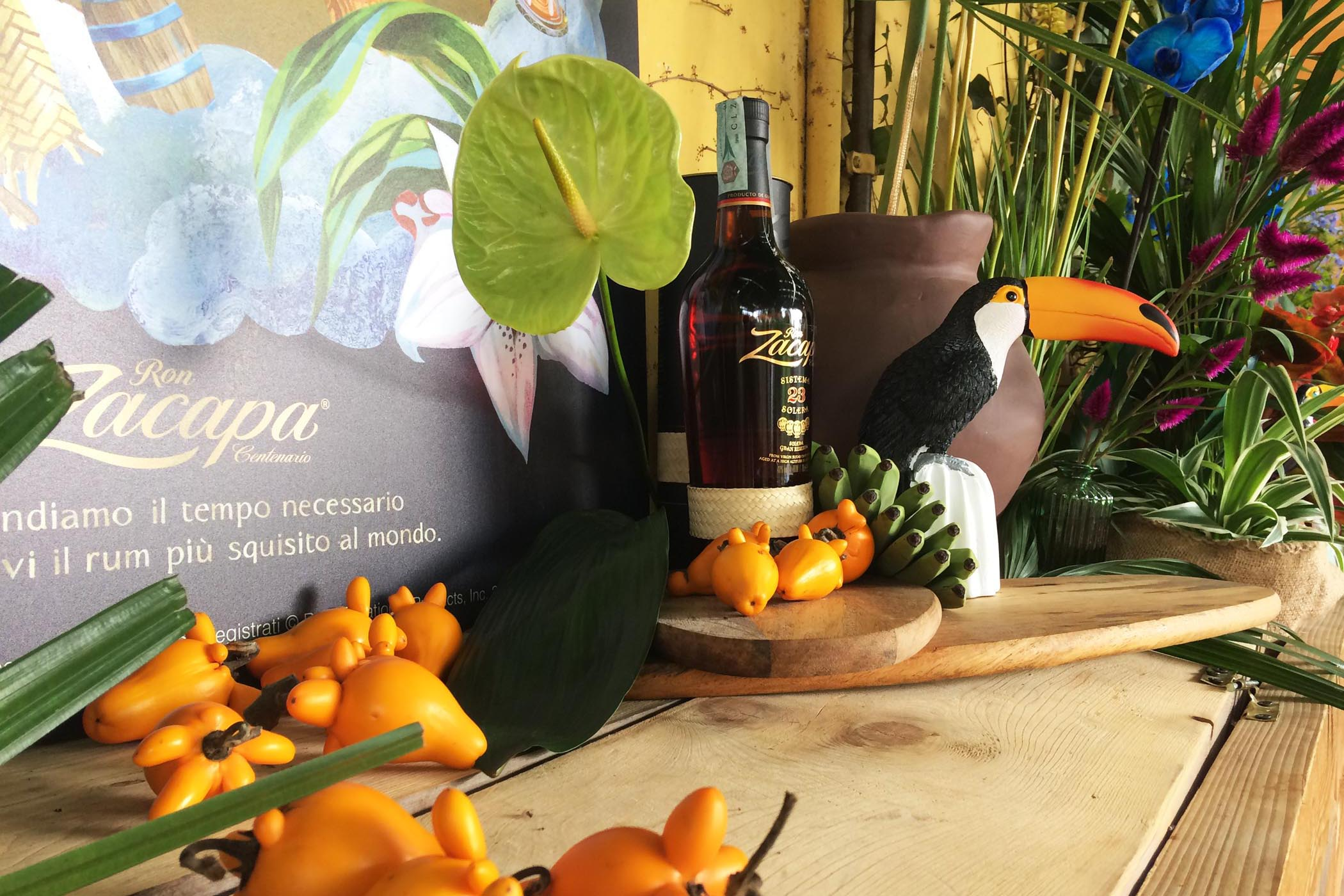 Zacapa Ron Alchemy Set Styling Tropical Mexiacan Erba Brusca Influencers and blogger Dinner 01